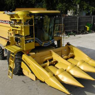 New Holland harvesters
